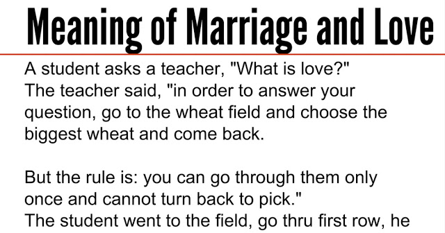 Real meaning of marriage