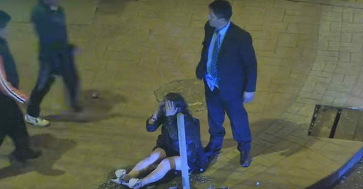Monstrous Guy Hit Girlfriend Drags Her By The Hair